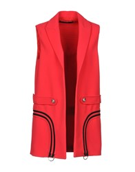 Versus By Versace Overcoats Red