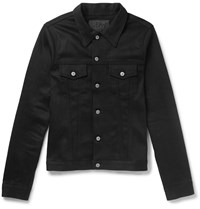 Jean Shop Lou Slim Fit Stretch Denim Trucker Jacket Black