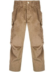 Lc23 Corduroy Cargo Trousers Brown