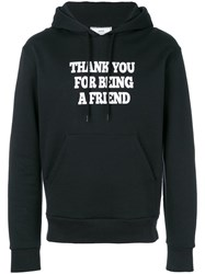 Ami Alexandre Mattiussi Hoodie With Print Thank You For Being A Friend Black
