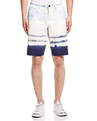 Original Paperbacks St. Barts Tie Dye Raw Edge Shorts Sky Navy