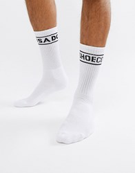 Dc Shoes Socks With Logo Band In White