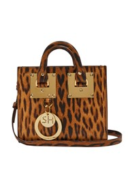 Sophie Hulme Albion Small Leopard Leather Box Bag