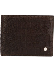 Orciani Croc Embossed Wallet Brown