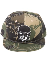Haculla Camouflage Print Face Cap Green