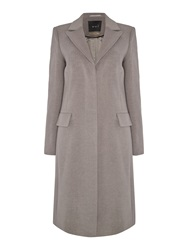Oui Cashmere Crombie Coat Taupe