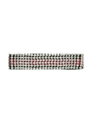 Gucci Web Headband With Crystals Nylon Crystal Red
