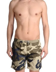 Scotch And Soda Swimming Trunks Military Green
