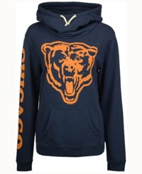 Junk Food Women's Chicago Bears Logo Funnel Hoodie Navy