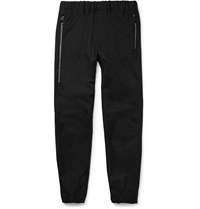 Balenciaga Tapered Wool And Mohair Blend Sweatpants Black
