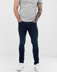 Voi Jeans Slim Fit In Dark Washed Blue