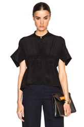 Victoria Victoria Beckham Soft Kick Sleeve Top In Black