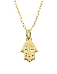 Lord And Taylor Sterling Silver Hamsa Pendant Necklace Gold