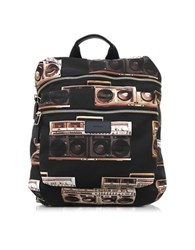Paul Smith Ghetto Blaster Print Nylon Rucksack Multicolor