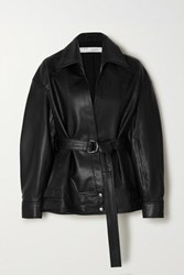 Iro Howell Belted Leather Jacket Black