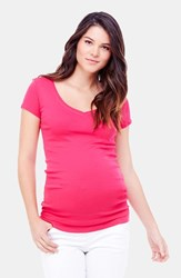 Ingrid And Isabelr Women's Isabel V Neck Short Sleeve Maternity Tee