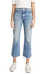 Amo Emma Relaxed Cropped Boot Jeans Moonbeam