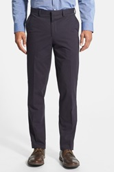 Wallin And Bros Flat Front Twill Trousers Blue