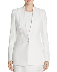 Elie Tahari Bonnie Seamed Blazer Winter White