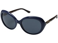Tory Burch Ty9039 Navy Dark Tortoise Grey Blue Solid Fashion Sunglasses