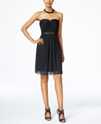 Adrianna Papell Strapless Ruched Dress Black
