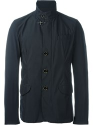 Fay High Collar Jacket Blue
