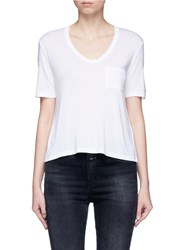 Alexander Wang Patch Pocket Scoop Neck T Shirt White