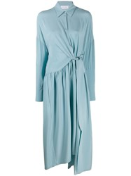 Christian Wijnants Maxi Shirt Dress Blue