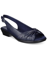Easy Street Shoes Fantasia Sandals Women's Navy