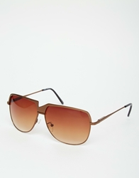 A. J. Morgan Aj Morgan Visor Sunglasses Gold