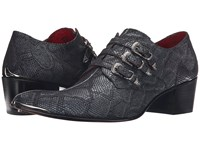 Jeffery West Triple Buckle Monk Pitone Negro Anthracite Men's Shoes Navy