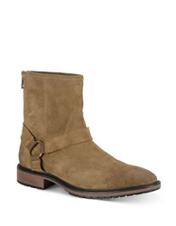 Marc New York Moore Suede Buckle Boots Beige