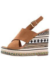Xti Wedge Sandals Camel