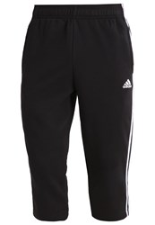 Adidas Performance 3 4 Sports Trousers Black White
