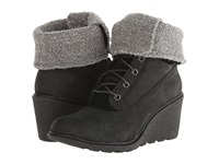 Timberland Earthkeepers Amston Roll Top Black Women's Lace Up Boots