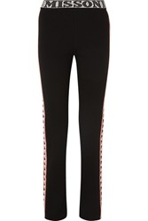 Missoni Intarsia Wool Blend Straight Leg Pants Black