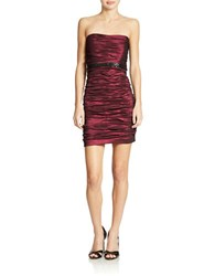 Hailey Logan Ruched Taffeta Dress Merlot