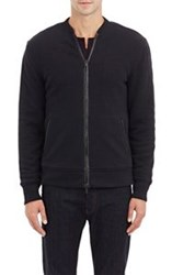 John Varvatos Star U.S.A. Waffle Knit Bomber Jacket Black