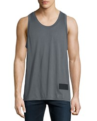 Alexander Wang Sleeveless Scoop Neck Tank Slate Grey