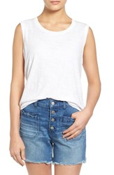 Women's Madewell 'Whisper' Cotton Muscle Tank Optic White