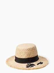 Kate Spade Winking Cloche Natural