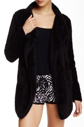 Pj Salvage Solid Cozy Cardigan Black