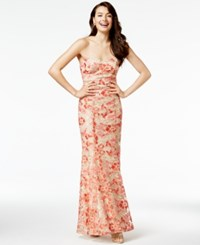Speechless Juniors' Strapless Embroidered Mermaid Gown A Macy's Exclusive Style Coral