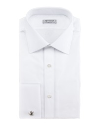 Charvet French Cuff Dress Shirt White 44.5 17.5L