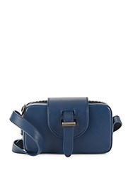 Meli Melo Microbox Crossbody Top Zip Bag Midnight Blue