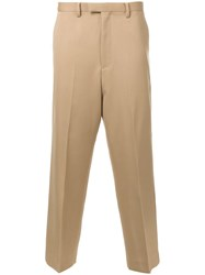 Cityshop Wide Leg Cropped Chinos Brown