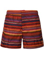 Missoni Mare Striped Swimming Trunks Yellow And Orange