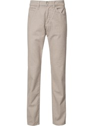 7 For All Mankind Slimmy 'Melange' Trousers Nude Neutrals