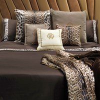 Roberto Cavalli Basic Duvet Set Super King Chocolate
