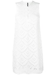 Plein Sud Jeans Perforated Detail Dress White
